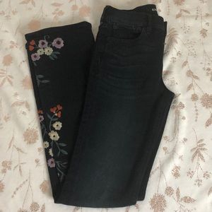 Floral Express boot cut jeans